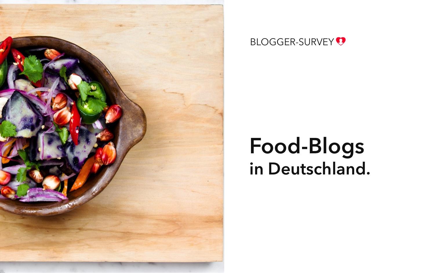 food blogs in deutschland studie agentur gerhard. Black Bedroom Furniture Sets. Home Design Ideas